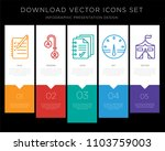 5 vector icons such as logbook  ... | Shutterstock .eps vector #1103759003