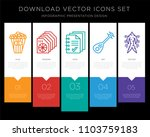5 vector icons such as popcorn... | Shutterstock .eps vector #1103759183