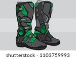 boots motocross black and green ... | Shutterstock .eps vector #1103759993