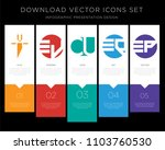 5 vector icons such as ui iu ...