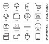 set of 16 icons such as phone ...
