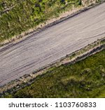 Road Of Small Gravel  Aerial...