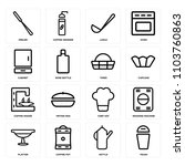 set of 16 icons such as trash ... | Shutterstock .eps vector #1103760863