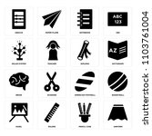 set of 16 icons such as uniform ...