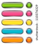 vector set of blank web buttons | Shutterstock .eps vector #110376329