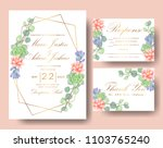 wedding floral invitation. save ... | Shutterstock .eps vector #1103765240