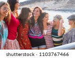 nice group of happy young...   Shutterstock . vector #1103767466