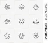 flowers line icon set with... | Shutterstock .eps vector #1103768843