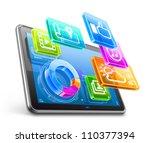vector illustration of tablet...