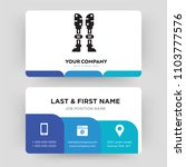 prosthesis  business card... | Shutterstock .eps vector #1103777576