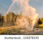 Riverside Geyser Erupting At...