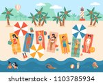 summer vacation banner design... | Shutterstock .eps vector #1103785934