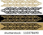 thai art pattern  vector... | Shutterstock .eps vector #110378690