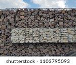 gabion fence wall from steel... | Shutterstock . vector #1103795093