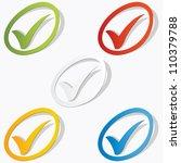 check mark set vector bubble | Shutterstock .eps vector #110379788