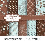 set of flower vector paper for... | Shutterstock .eps vector #110379818