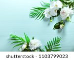 floral background with a space... | Shutterstock . vector #1103799023