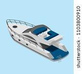 isometric yacht  simple vector... | Shutterstock .eps vector #1103800910