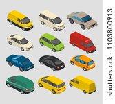 isometric cars mini 3d vector   Shutterstock .eps vector #1103800913