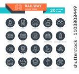set of outline white icons on... | Shutterstock .eps vector #1103808449