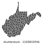 west virginia state map mosaic... | Shutterstock .eps vector #1103810546