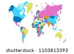 color world map vector | Shutterstock .eps vector #1103813393