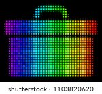 pixelated bright halftone... | Shutterstock .eps vector #1103820620