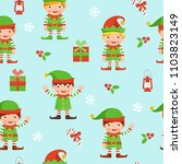 christmas seamless pattern with ... | Shutterstock .eps vector #1103823149