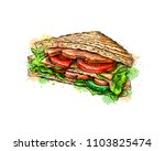 sandwich fast food from a... | Shutterstock .eps vector #1103825474