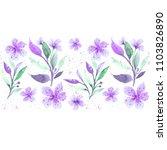 seamless floral botanical...   Shutterstock . vector #1103826890