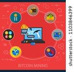 bitcoin mining flat icons... | Shutterstock .eps vector #1103846399