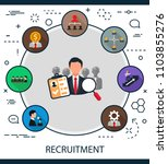 recruitment flat icons concept. ... | Shutterstock .eps vector #1103855276