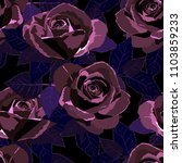 seamless pattern with roses.... | Shutterstock .eps vector #1103859233