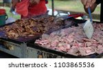 kambing bakar or lamb grilled ... | Shutterstock . vector #1103865536