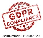 Gdpr Compliance Rubber Stamp...
