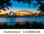 sydney opera house and the... | Shutterstock . vector #1103886206