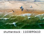 Aerial View Of Kitesurfing On...