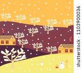 winter. cloudy winter landscape.... | Shutterstock .eps vector #1103900036