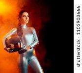 female astronaut spatial... | Shutterstock . vector #1103903666