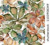 autumn chestnut leaves. leaf... | Shutterstock . vector #1103908349