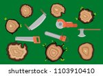 stumps and woodworking tools of ... | Shutterstock .eps vector #1103910410