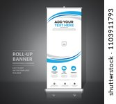 roll up banner design template  ... | Shutterstock .eps vector #1103911793