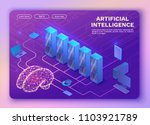 artificial intelligence concept ... | Shutterstock .eps vector #1103921789