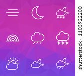 weather icons line style set... | Shutterstock .eps vector #1103922200