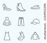 garment icons line style set... | Shutterstock .eps vector #1103922290