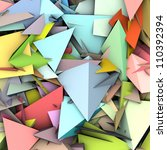 3d abstract fragmented pattern... | Shutterstock . vector #110392394