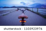 the rear of retro bicycle with... | Shutterstock . vector #1103923976
