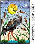 illustration in stained glass... | Shutterstock .eps vector #1103924336