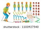 skiing male vector. animated... | Shutterstock .eps vector #1103927540