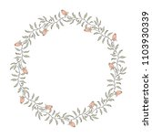 elegant floral wreath on white... | Shutterstock .eps vector #1103930339